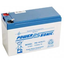Batería de plomo-ácido PowerSonic PS-1270F1 12V 7A recargable