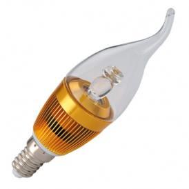 Lampadina LED da 4W di potenza, E14 (attacco Edison mignon) bianco caldo con temperatura di colore 3000K da 220V