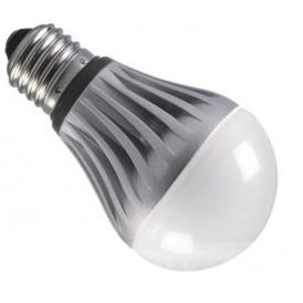Lampadina LED da 5W di potenza, E27 (attacco a vite grande) bianco caldo con temperatura di colore 3000K da 220VAC