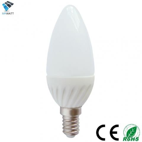 Led Light Candle Bulb E14 3w Warm White 3000k Color