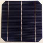 """Célula solar monocristalina 6""""x6"""" pulgadas (156X156 mm) A-grade 3 barra colectora de 4500mW de potencia"""