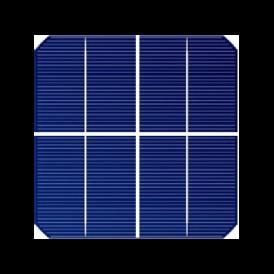 """Cella solare Mono 2.5""""x2.5"""" (63X63 mm) tipo A-grade 1BB"""