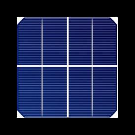 "Solar cell Mono 2.5""x2.5"" ( 62.5X62.5 mm ) A-grade 1BB"