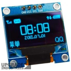 Modulo Display 1.3 pulgadas 7 pin OLED SPI/IIC Color Azul