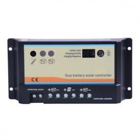 Dual battery solar charger 10A 12V/24V
