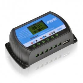 Regulador de carga RTD USB LCD 10A 20A o 30A 12V/24V