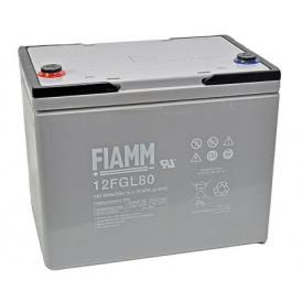 Batteria FIAMM AGM pannelli solari fotovoltaici 80Ah [12FGL80]