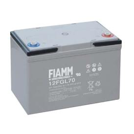 Batteria FIAMM AGM pannelli solari fotovoltaici 70Ah [12FGL70]
