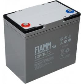 Batteria FIAMM AGM pannelli solari fotovoltaici 55Ah [12FGL55]