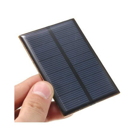 Mini panel solar monocristalino epoxy 85X60 mm
