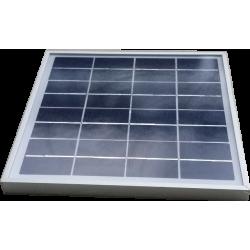 Mini panel solar de vidrio policristalino dimensiones de 240X240 mm con marco de aluminio de 8800mV a 7W de potencia