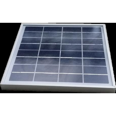 Mini panel solar policristalino VIDRIO de 240X240mm 8,8V a 7W potencia