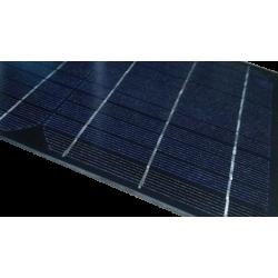 Mini pannello solare monocristallino in vetro di dimensioni 500X200 mm con scatola di connessione da 18V a 15W di potenza