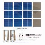 "KIT fotovoltaico 36W de 36 celulas solares poli 3""x3"" pulgadas (26X78 mm) tipo A y acesorios de para ensemblar un panel"