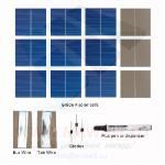 """KIT fotovoltaico 36W de 36 celulas solares poli 3""""x3"""" pulgadas (26X78 mm) tipo A y acesorios de para ensemblar un panel"""