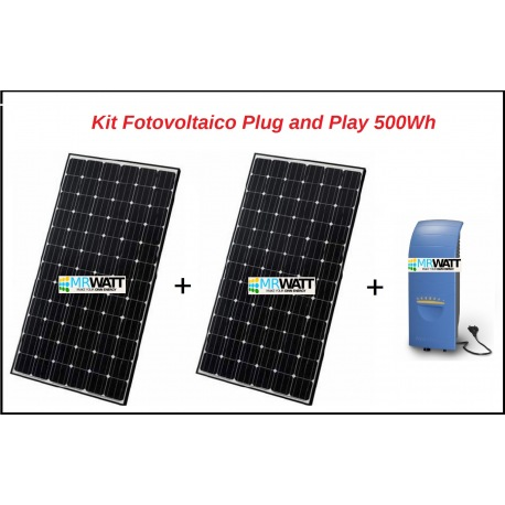 Kit fotovoltaico 500Wh Plug and Play per autoconsumo per appartamento