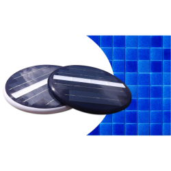 Foco LED solar subacuàtico deep blue para iluminación de piscinas estanques sin vaciar la piscina sin obra montaje en 5 minutos