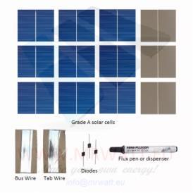 """KIT 18W 36 solar cells 2""""x2"""" (52x52mm) A-grade"""