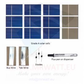 "KIT 25W 36 células solares 2""x3"" (52X78mm) A-grade"