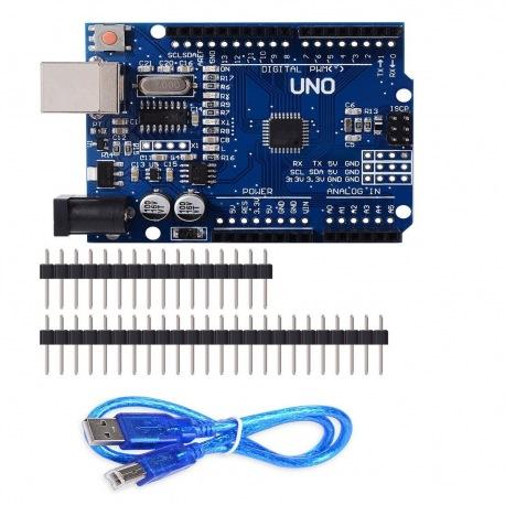 Arduino UNO REV3 con el microcontrolador ATmega328 100% Compatible