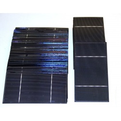 "Polycrystalline solar cell 3""x6"" ( 76X156 mm ) A-grade 2 bus bars 1800mW power"