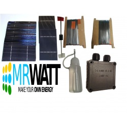 "KIT fotovoltaico 70W de 36 células solares poli 3""X6"" pulgadas (76X156 mm) tipo A y acesorios de para ensemblar un panel"
