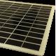 Modulo fotovoltaico custom in vetro no cornice 36 celle solari sfondo bianco da 210X210mm 18V 6W di potenza bordi arrotondati