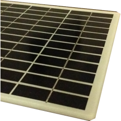 customized solar module mono squared made in glass white ground no frame size 210X210mm 36 cells rounded corners 18V 6W power