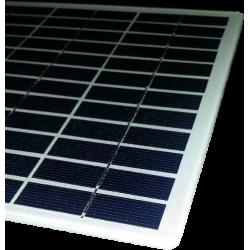 Panel solar a medida sin marco de 36 celulas con fondo blanco de 210x210mm 18V 6W de potencia y con esquinas redondeadas