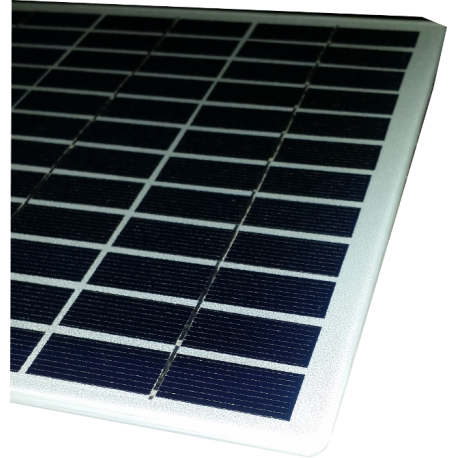 Mini solar module monocrystalline square form made in glass white ground composed by 36 cells size 210X210mm 18V 6W power