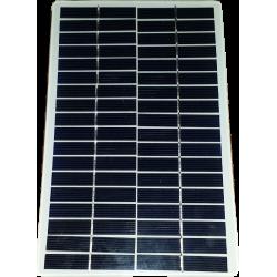 Modulo fotovoltaico vidrio personalizado sin marco 36 celdas fondo blanco de 140X220mm 18V 4200mW bordes de potencia redondeados