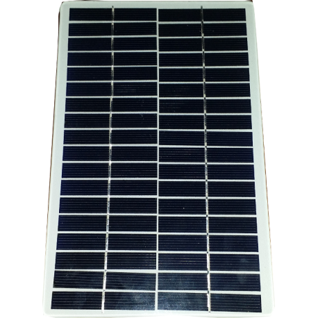 Modulo fotovoltaico personalizzato in vetro no cornice 36 celle sfondo bianco da 140X220mm 18V 4200mW potenza bordi arrotondati