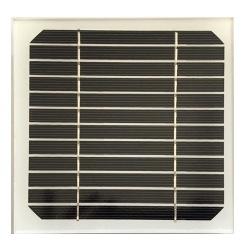 Modulo fotovoltaico personalizzato in vetro con cornice 12 celle sfondo bianco da 140X140mm 6V 2.4W di potenza