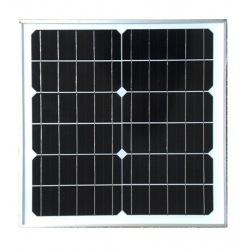 Modulo fotovoltaico personalizzato in vetro con cornice 12 celle sfondo bianco da 360X360mm 6V 20W di potenza