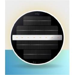 Foco LED solar bajo e agua a fijación magnética para piscinas liner con paredes de acero galvanizado sin obra sin cables