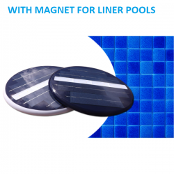 High quality in-ground solar deep blue led light for pool with magnet ideal for liner pools no cables easy to install and remove