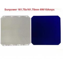 """Célula solar monocristalina sunpower flexible alta potencia 6""""x6"""" pulgadas (161X161mm) A-grade de 6000mWh"""