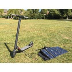 Panel solar portátil plegable Sunpower 54w 45V para cargar scooters eléctricos, patinetes Xiaomi M365 y Ninebot ES1 ES2 ES4