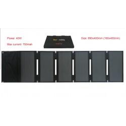 Mini Pannello solare 40W 42V pieghevole portatile per la ricarica di monopattini elettrici Xiaomi M365 e Ninebot ES1 ES2 ES4