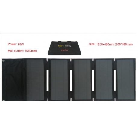 Panel solar portátil plegable Sunpower 70w 42V para cargar scooters eléctricos, patinetes Xiaomi M365 y Ninebot ES1 ES2 ES4