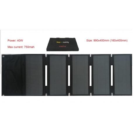 Panel solar portátil plegable Sunpower 40w 42V para cargar scooters eléctricos, patinetes Xiaomi M365 y Ninebot ES1 ES2 ES4