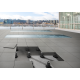 Plug and play photovoltaic floor. Color walkable solar tile 500x500x8mm