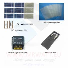 "KIT 70W 36 solar cells 3""x6"" (80x150mm) A-grade +EVA + JB + CMP12"