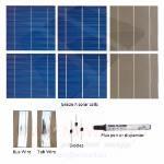 "KIT 300W 72 celle solari 6""x6"" (156x156mm) A-grade"
