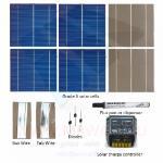 """KIT 150W 36 células solares 6""""x6"""" (156x156mm) A-grade con regulador de carga CMP12"""