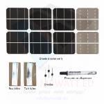 "KIT 80W 36 células solares 3""x6"" (78x156mm) Monocristalinas A-grade"