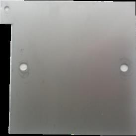 Piastra terminale acciaio 316L 160X170 mm per Generatore Idrogeno HHO