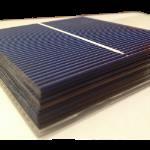 """Cella solare Policristallina 3""""x3"""" pollici ( 76X76 mm ) di classe A da 1W con una banda di connessione"""