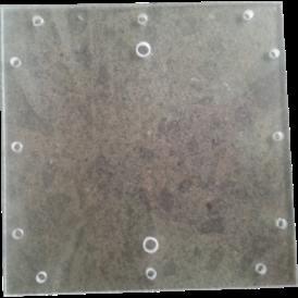 Coppia piastre plexiglass 200X200 mm forate per Generatore Idrogeno HHO