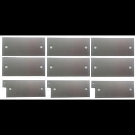 Set de 9 placas de acero 316L Generador de Hidrogeno HHO